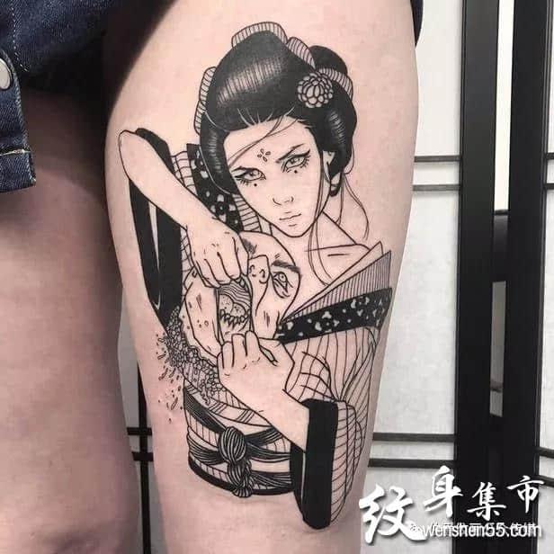 艺伎纹身,艺伎纹身手稿,艺伎纹身手稿图案