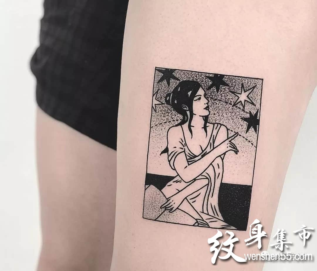 复古纹身图案,抽象纹身,纹身小图,ins纹身艺术家连载
