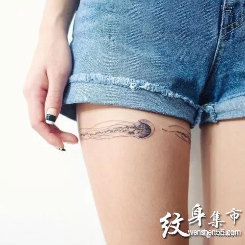水母纹身,水母纹身手稿,水母纹身手稿图案大全