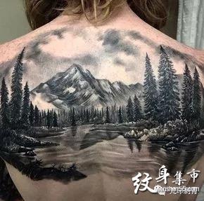 山纹身,山纹身图案,山纹身手稿图案大全