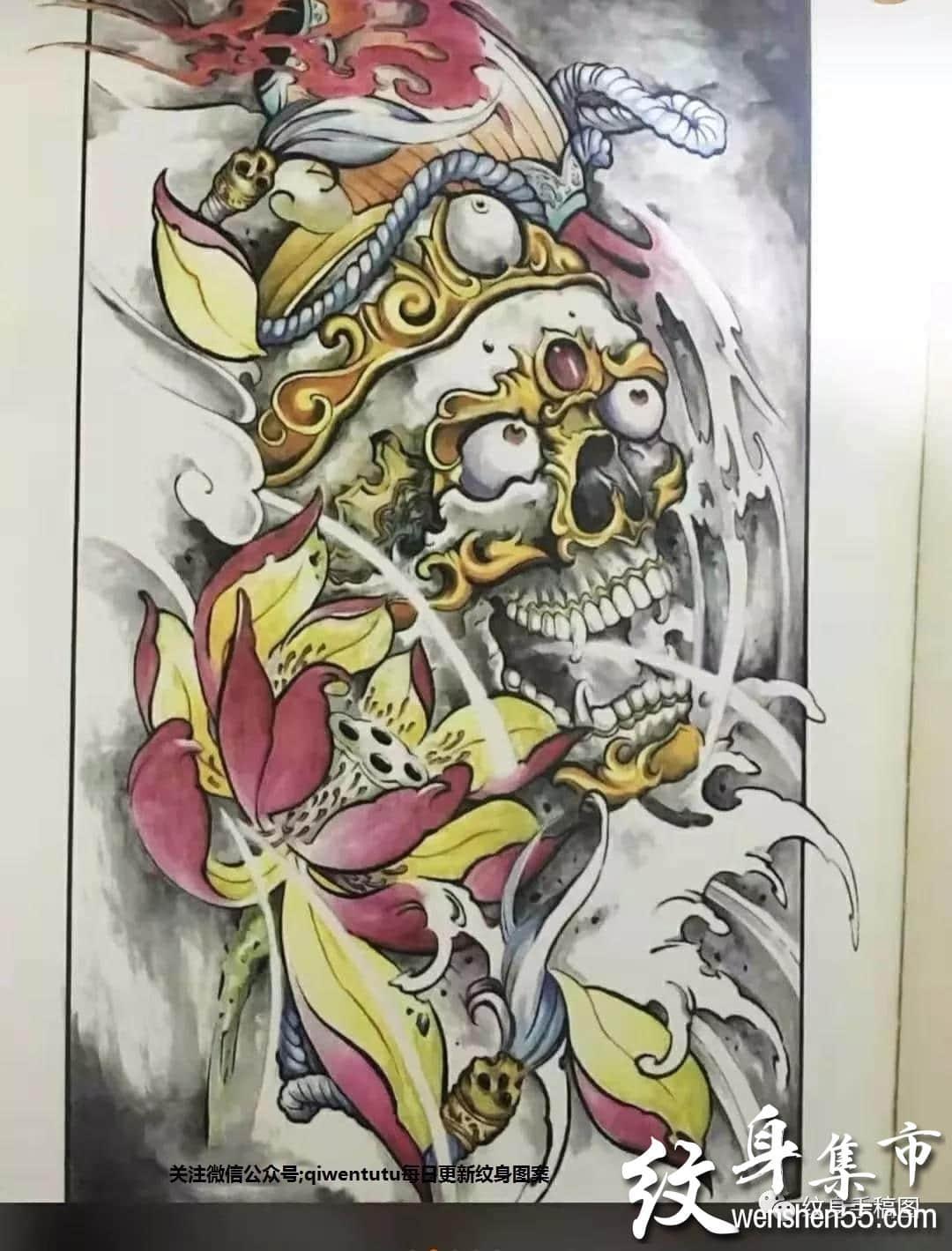 嘎巴拉纹身,嘎巴拉纹身手稿,嘎巴拉纹身手稿图案大全