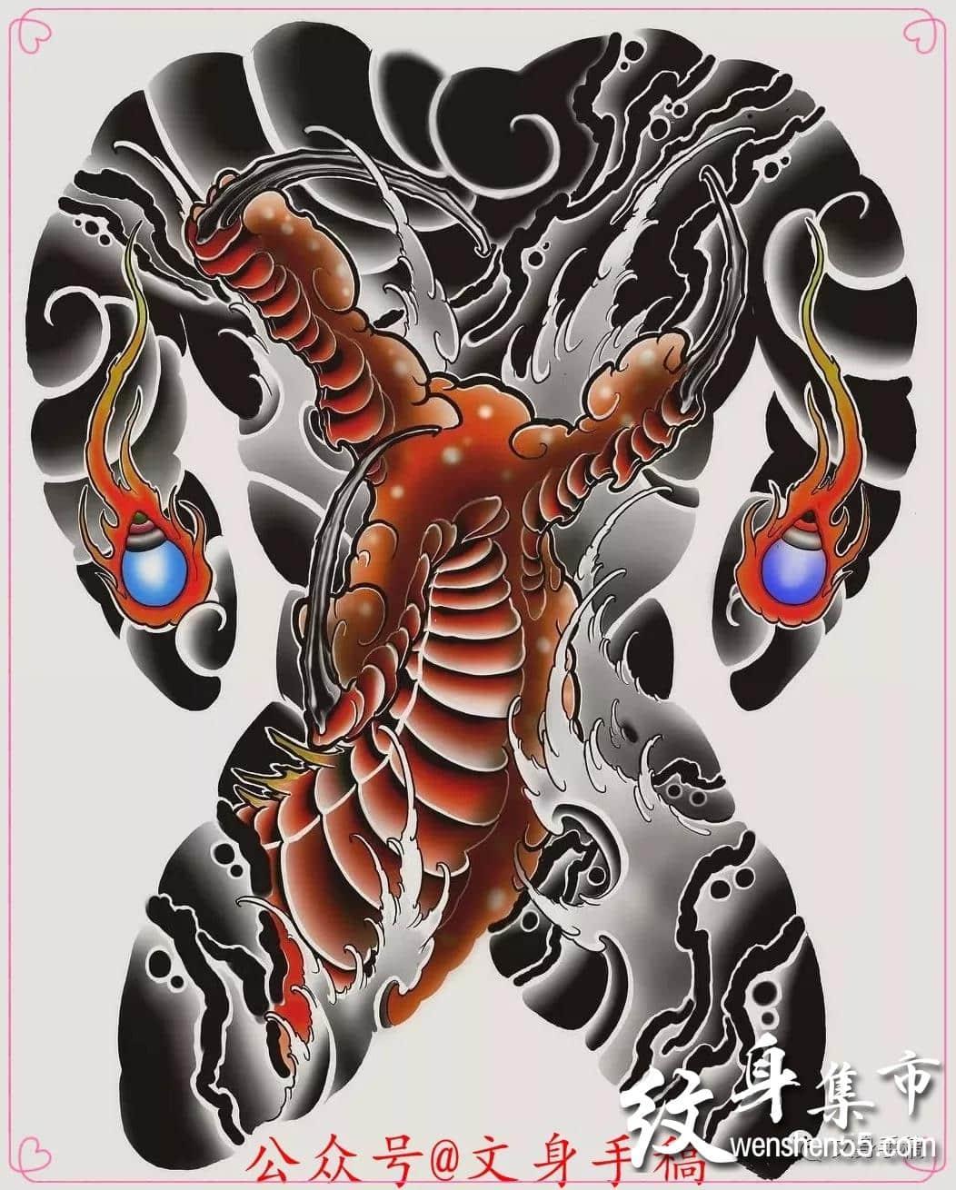 龙爪纹身,龙爪纹身手稿,龙爪纹身手稿图案