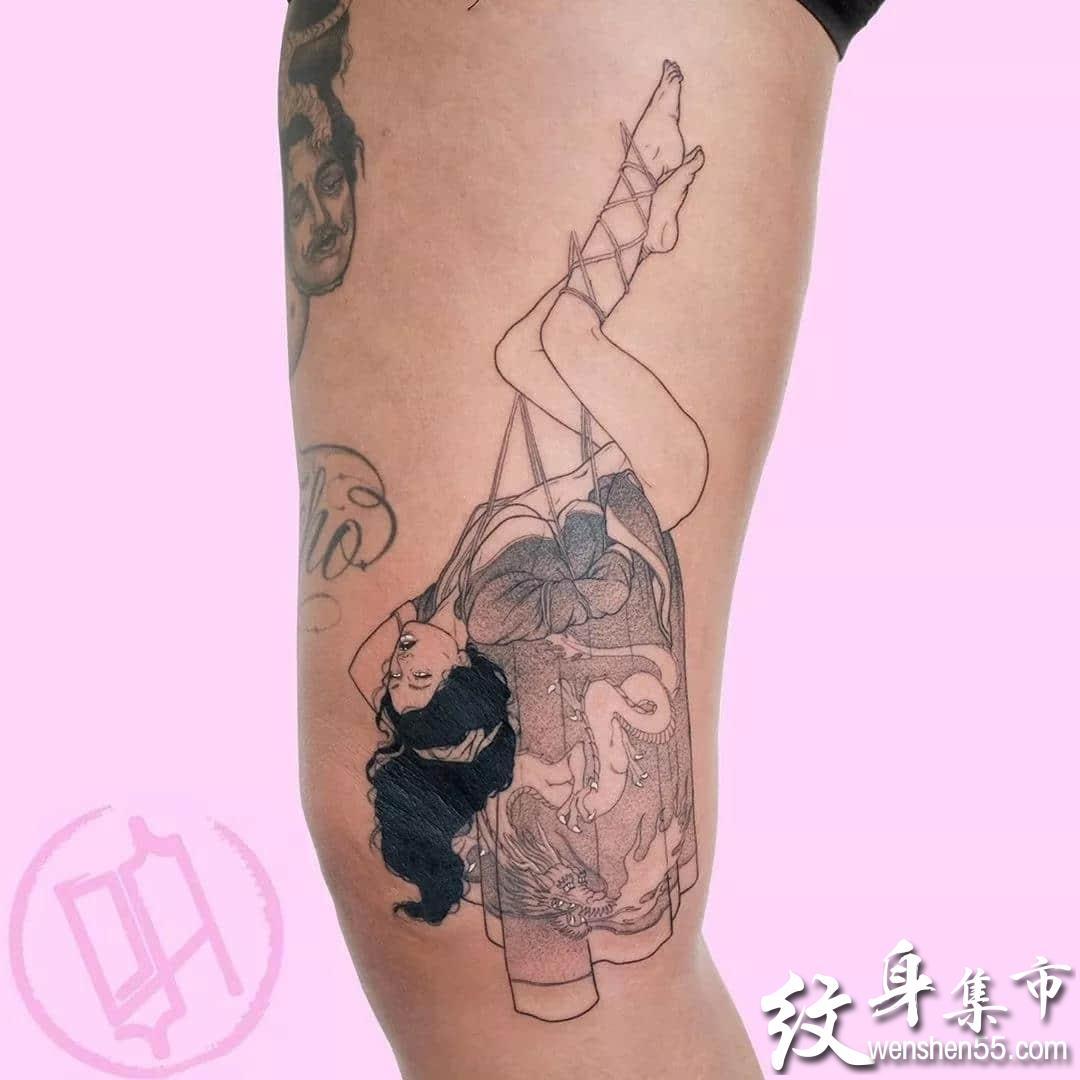 成人纹身,成人纹身手稿,成人纹身手稿图案未成年勿进