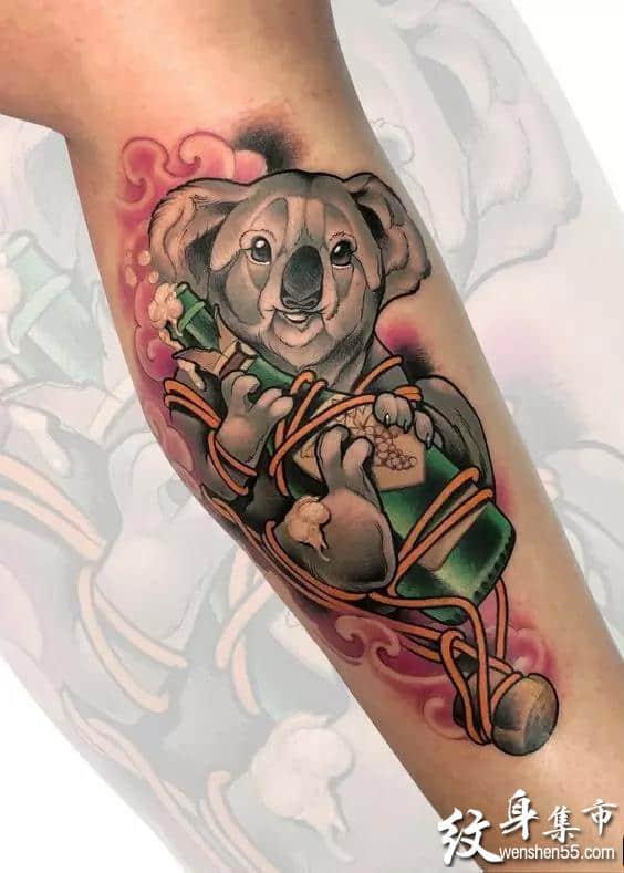 考拉纹身,考拉纹身手稿,考拉纹身手稿图案