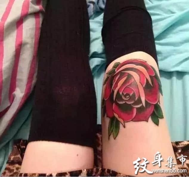 膝盖纹身,膝盖纹身手稿,膝盖纹身手稿图案