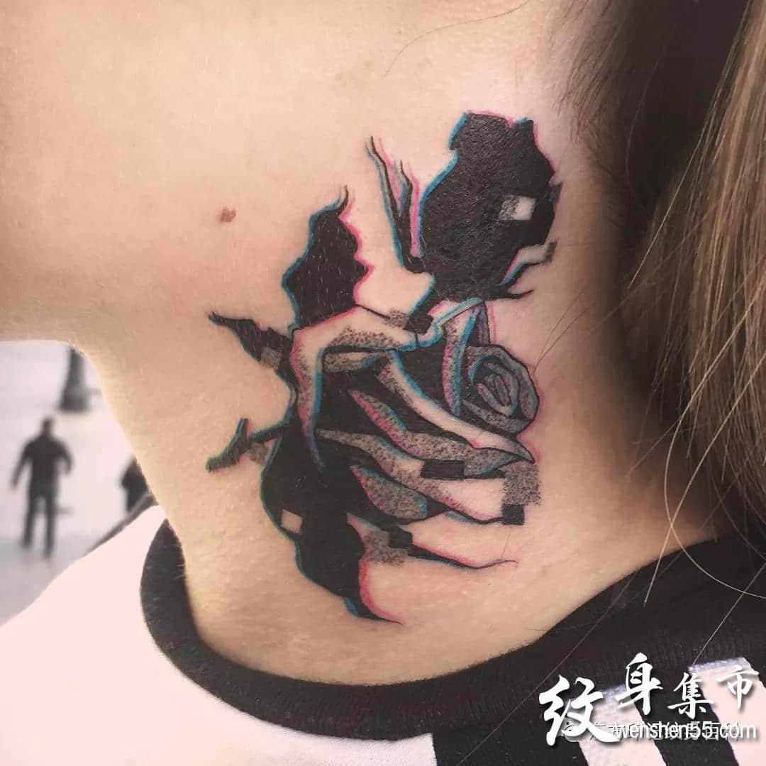个性虚幻纹身,个性虚幻纹身手稿图案