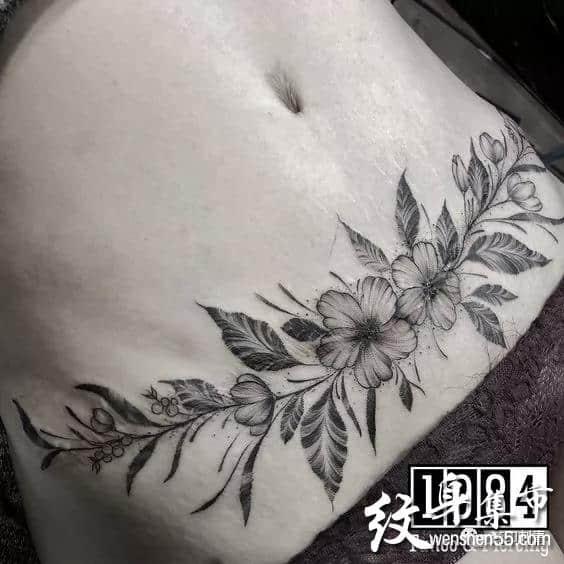 腹部纹身,腹部纹身手稿,腹部纹身手稿图案