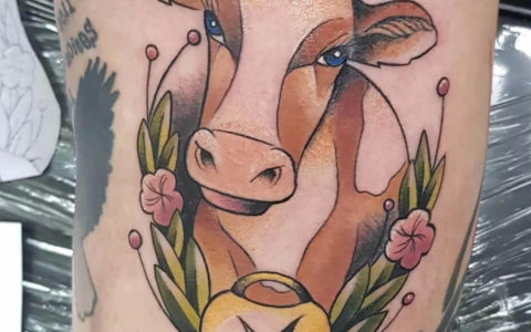 牛头纹身,牛头纹身手稿,牛头纹身手稿图案