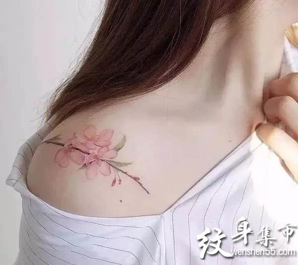 锁骨纹身,锁骨纹身手稿,锁骨纹身手稿图案大全