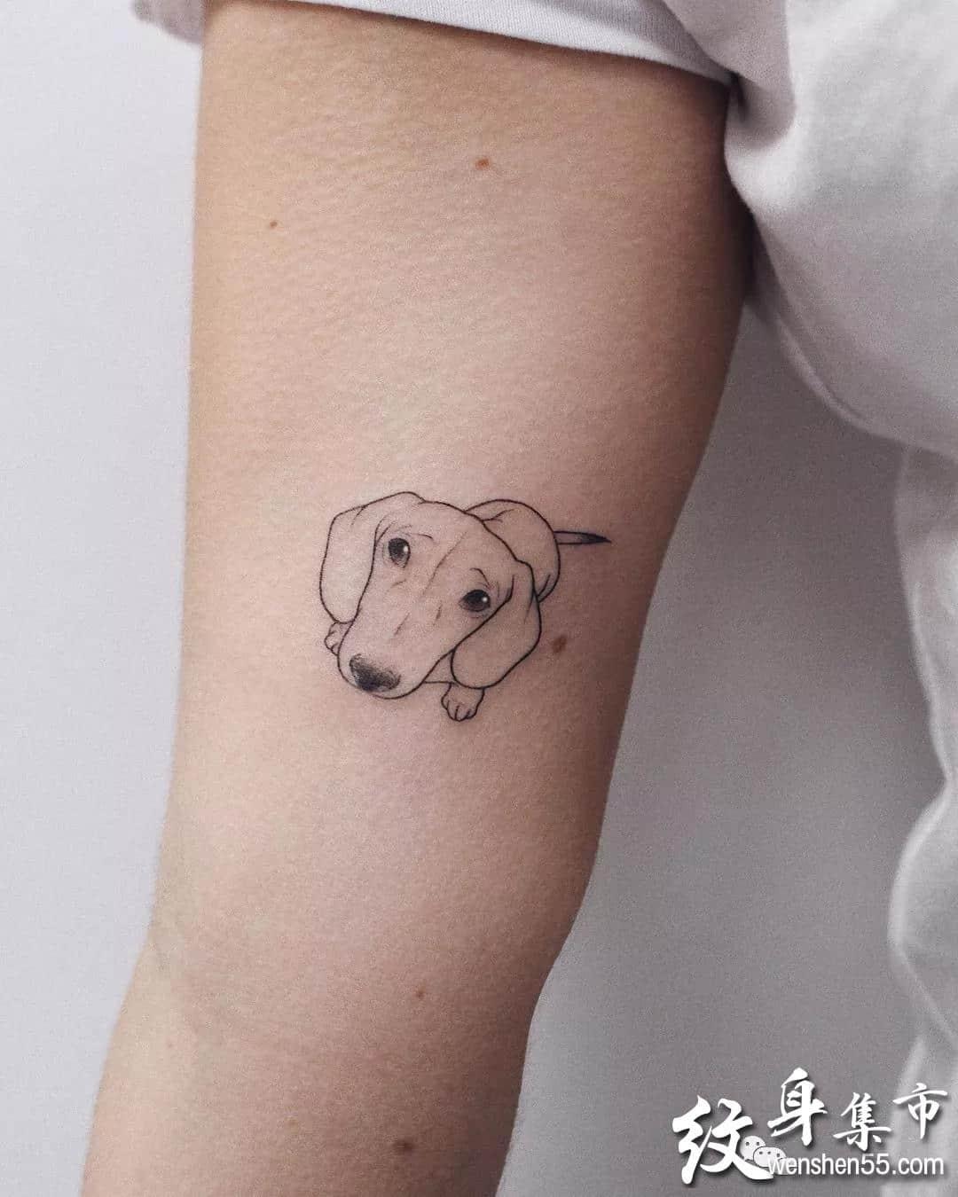 简约线条纹身,简约线条纹身手稿图案大全