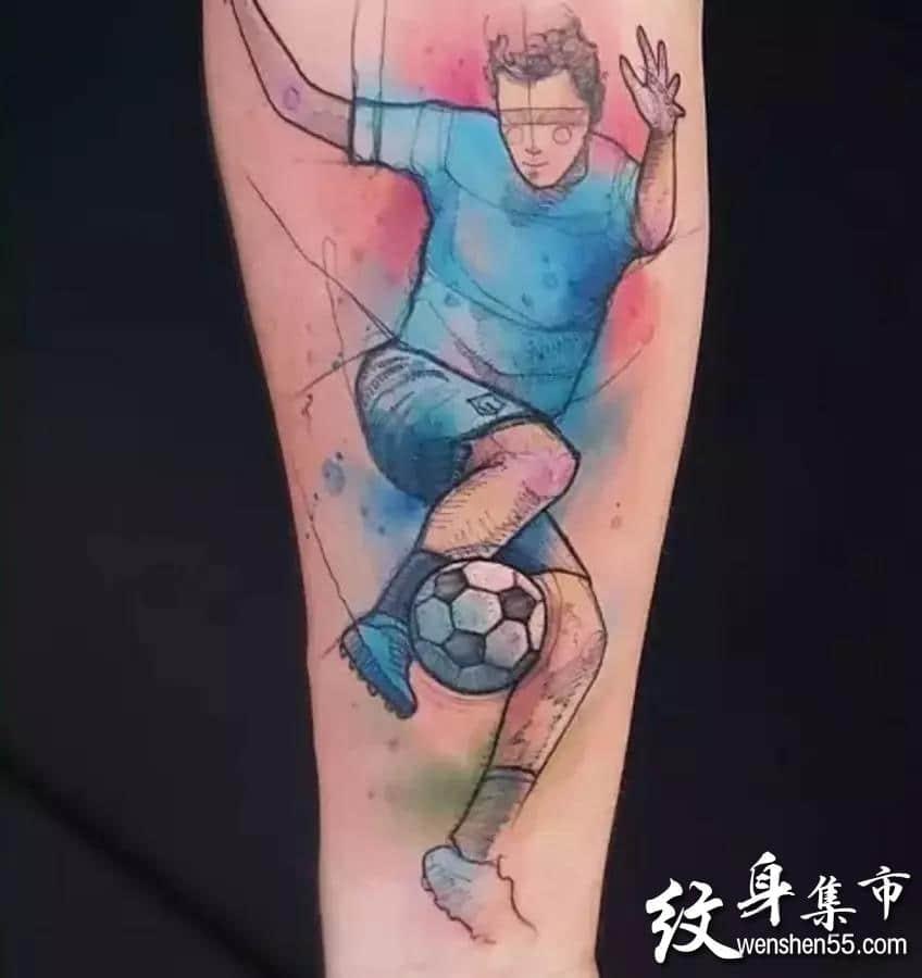 足球纹身,足球纹身手稿,足球纹身手稿图案