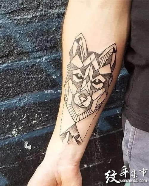 狼头纹身,狼头纹身手稿,狼头纹身手稿图案