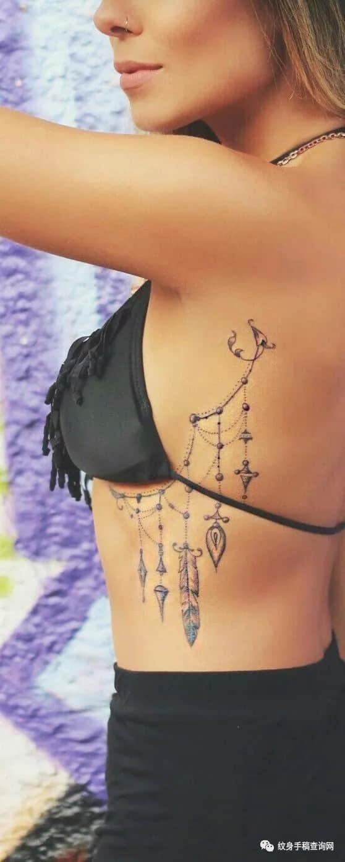 胸花纹身,胸花纹身手稿,胸花纹身手稿图案