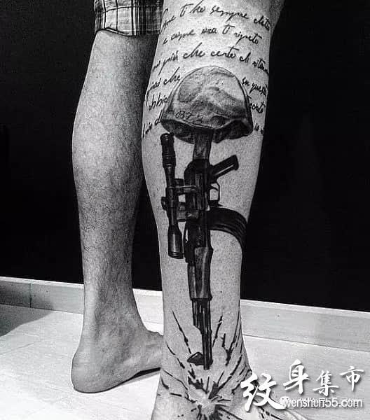 战争纹身,战争题材纹身,战争纹身手稿图案大全