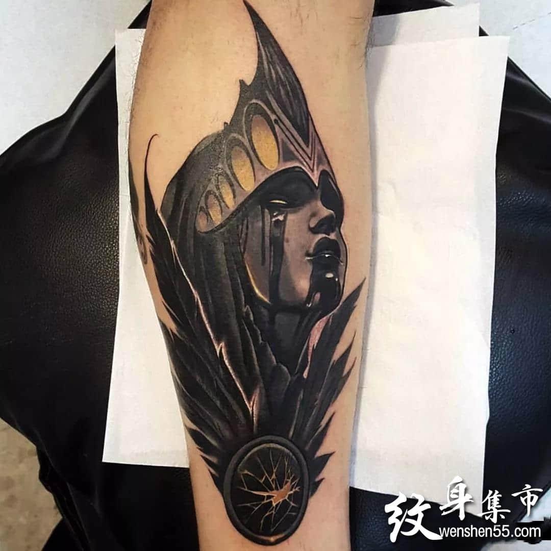 暗黑人物纹身,暗黑人物纹身手稿,暗黑人物纹身手稿图案