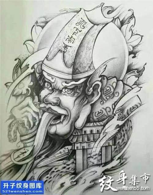 黑白无常纹身,黑白无常纹身手稿,黑白无常纹身手稿图案