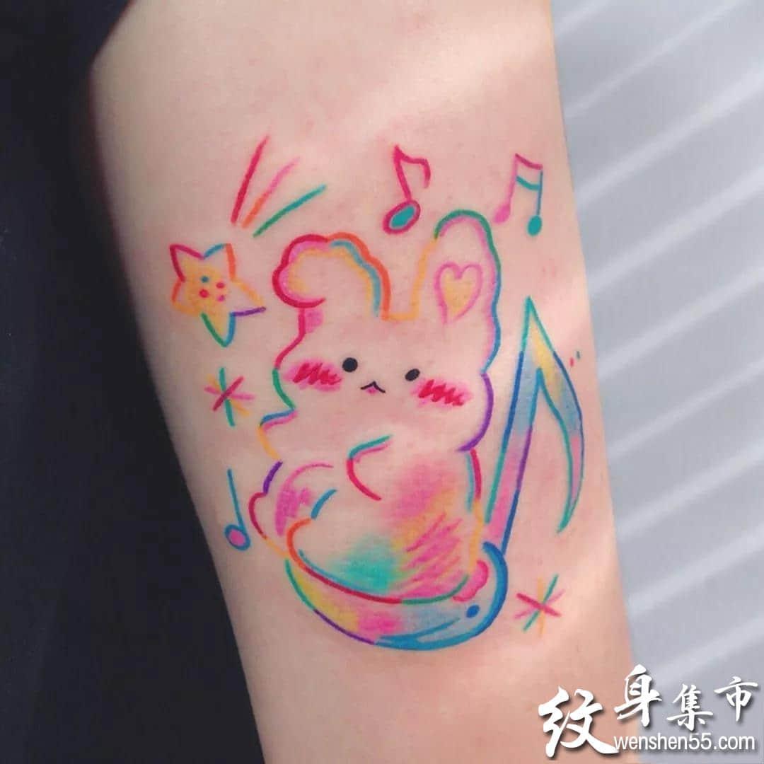 兔子纹身,兔子纹身手稿,兔子纹身手稿图案