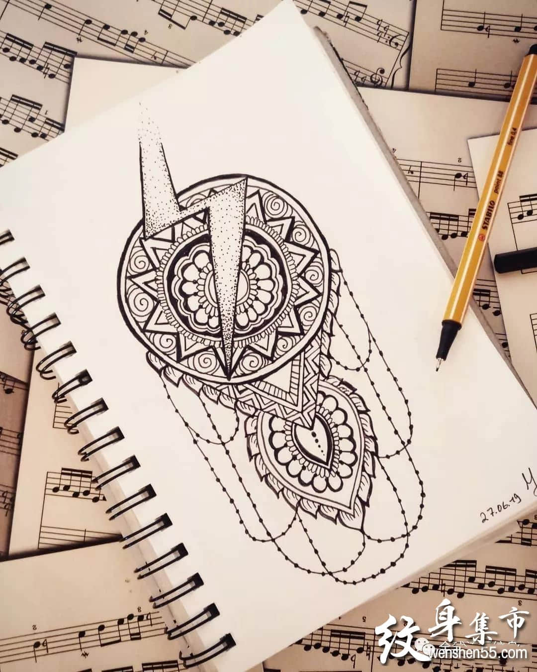 闪电纹身,闪电纹身手稿,闪电纹身手稿图案