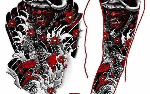 花臂纹身,花臂纹身手稿,花臂纹身手稿图案