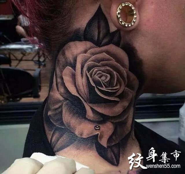 脖子纹身,脖子纹身手稿,脖子颈部纹身手稿图案