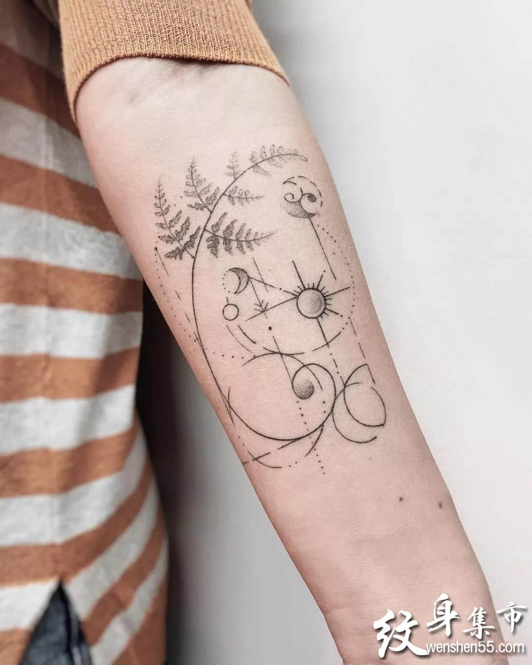 素花纹身,素花纹身手稿,素花纹身手稿图案