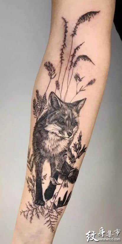 狐狸纹身,狐狸纹身手稿,狐狸纹身手稿图案