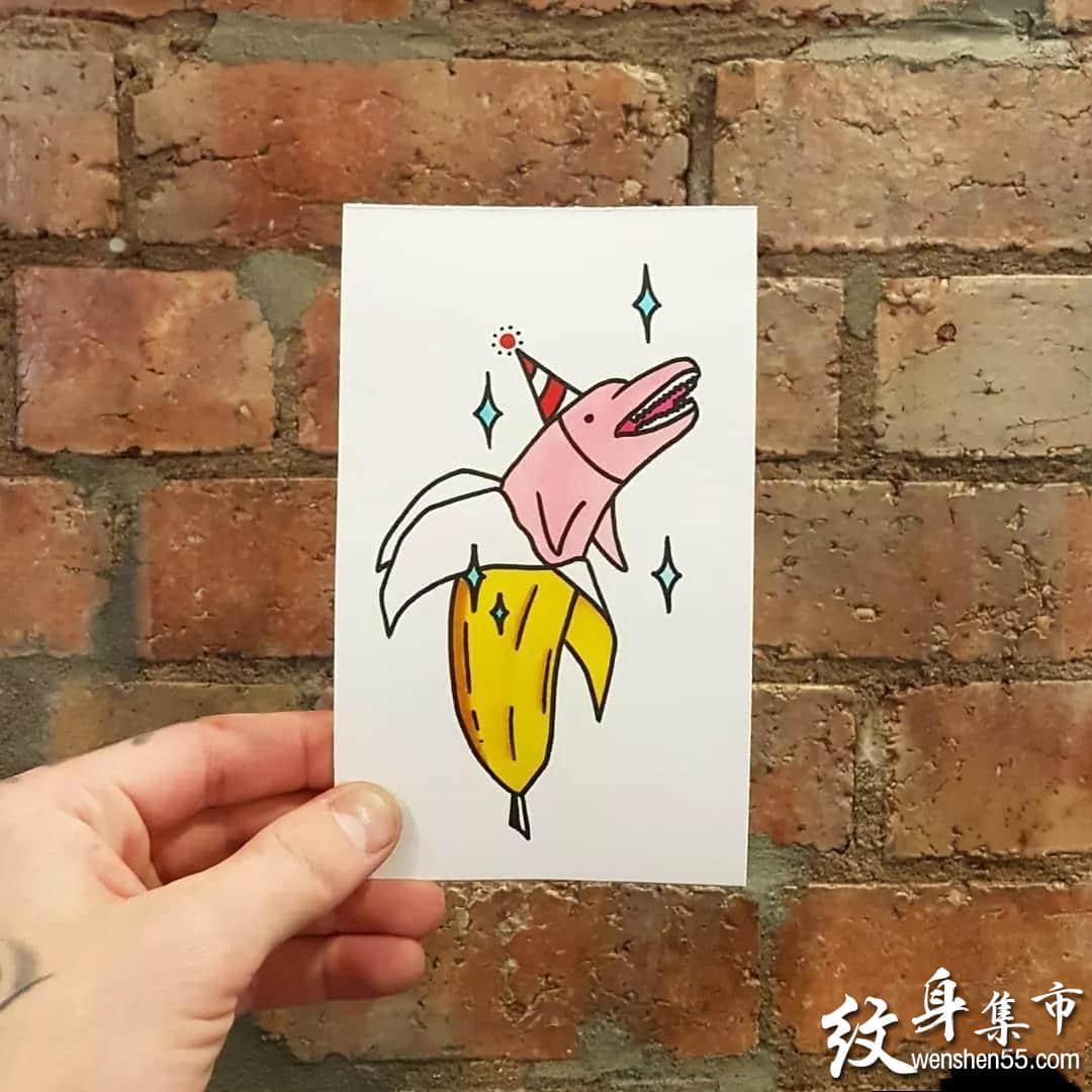 海豚纹身,海豚纹身手稿,海豚纹身手稿图案