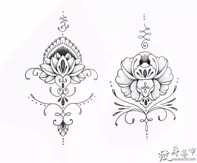 点刺纹身,点刺纹身手稿,点刺纹身手稿图案