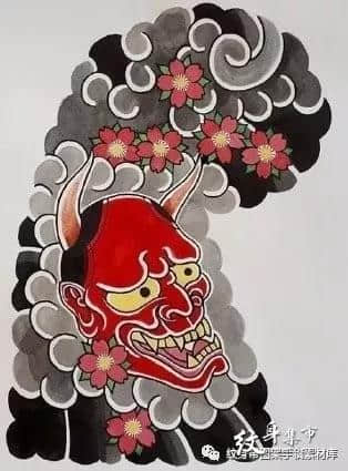 日式半甲纹身,日式半甲纹身手稿,日式半甲纹身手稿图案