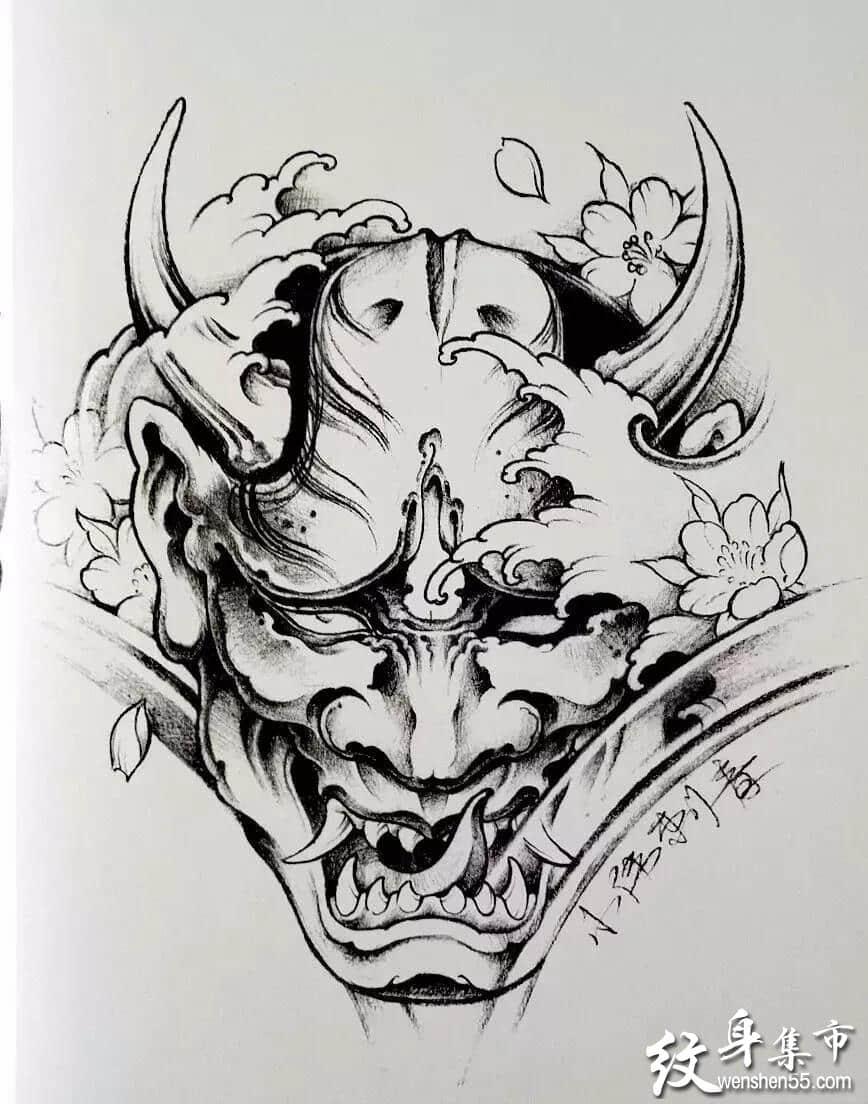 般若纹身,般若纹身手稿,般若纹身手稿图案