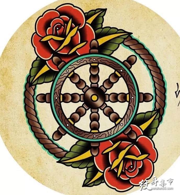school纹身,school纹身手稿,school纹身手稿图案