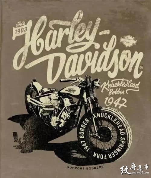 摩托车纹身,摩托车纹身手稿,摩托车纹身手稿图案