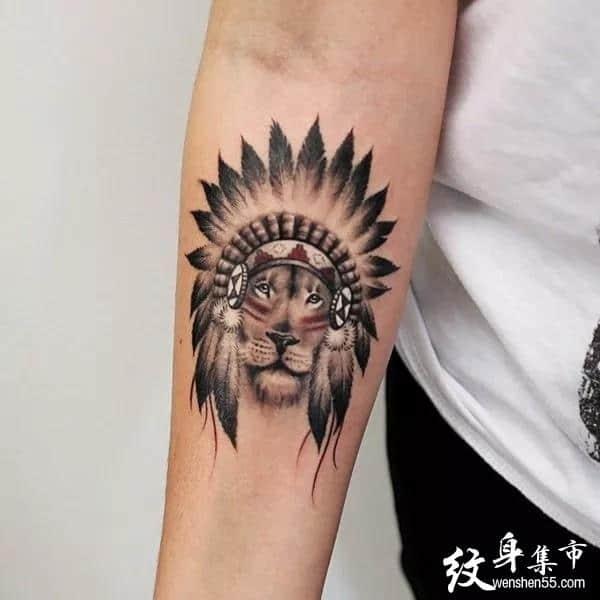 狮子纹身,狮子纹身手稿,狮子纹身手稿图案