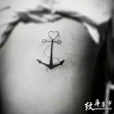 船锚纹身,船锚纹身手稿,船锚纹身手稿图案