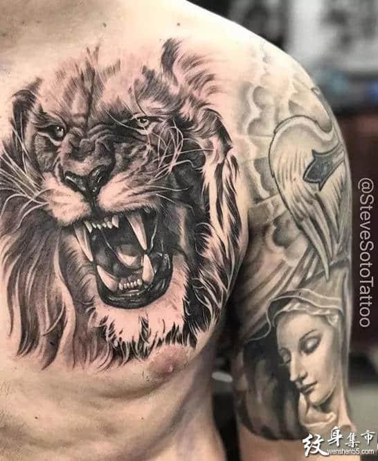 写实狮子纹身,写实狮子纹身手稿,写实狮子纹身手稿图案