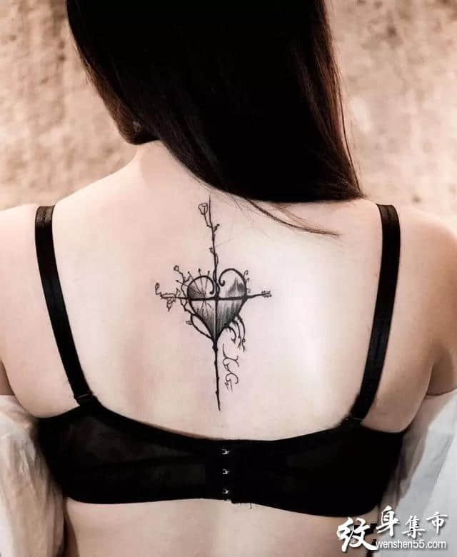 女神背脊纹身,女神背脊纹身手稿,女神背脊纹身手稿图案