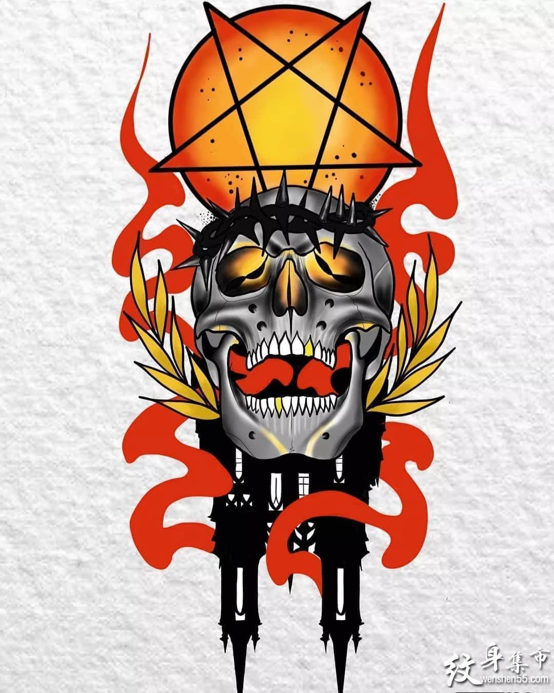 火纹身,火纹身手稿,火纹身手稿图案