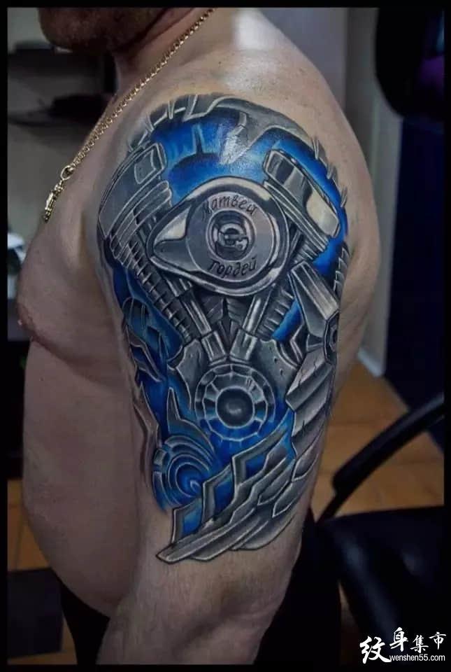 机械纹身,机械纹身手稿,机械纹身手稿图案