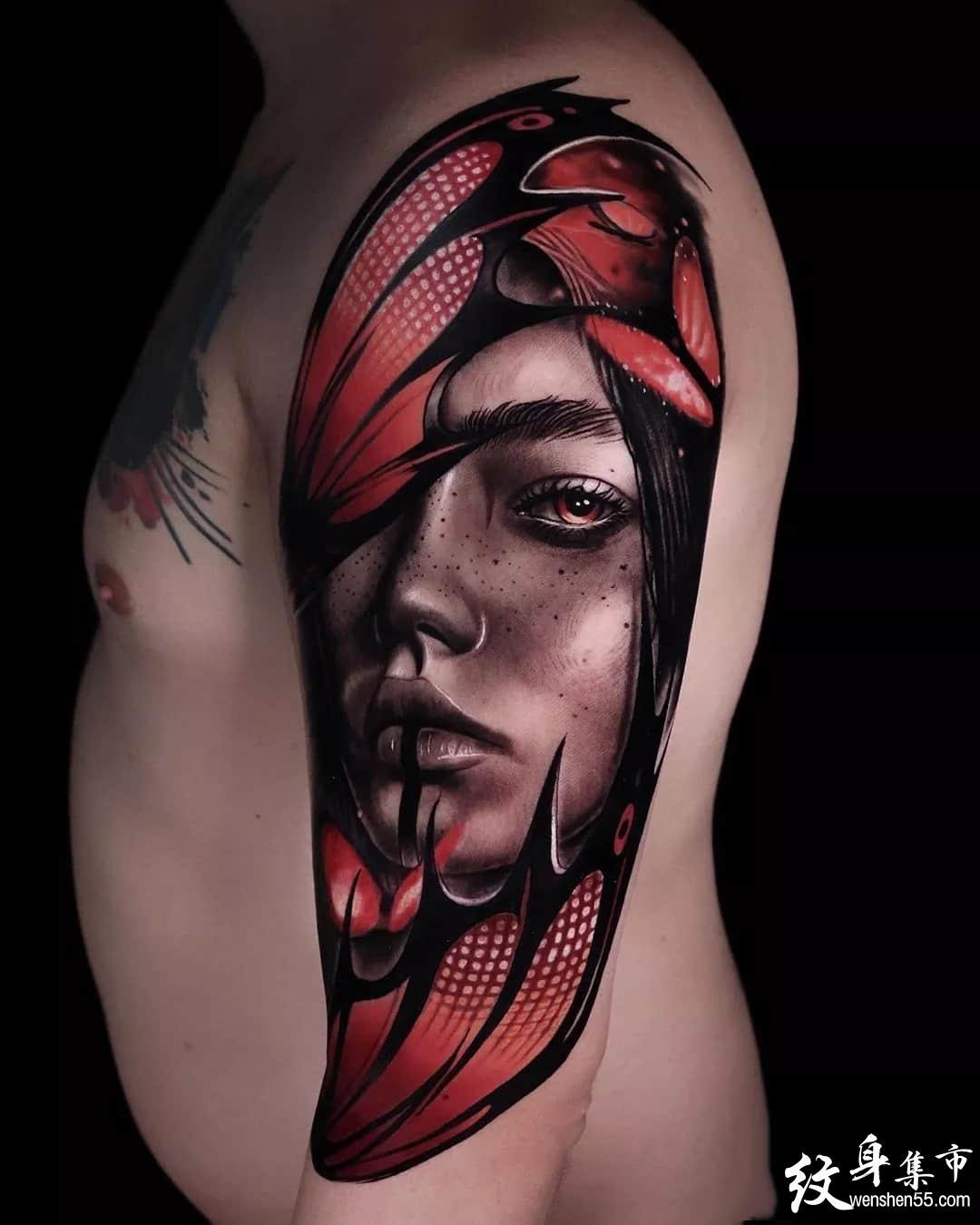 超写实纹身手稿图案,ins艺术家连载