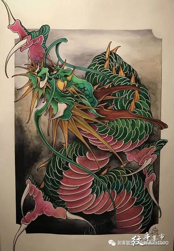 龙纹身,龙纹身手稿,龙纹身手稿图案