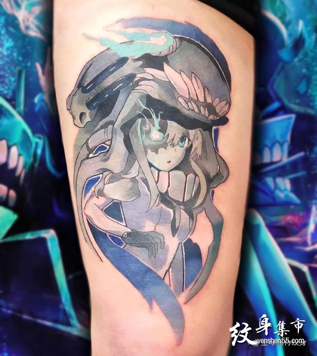 彩色动漫纹身,彩色动漫纹身手稿,彩色动漫纹身手稿图案