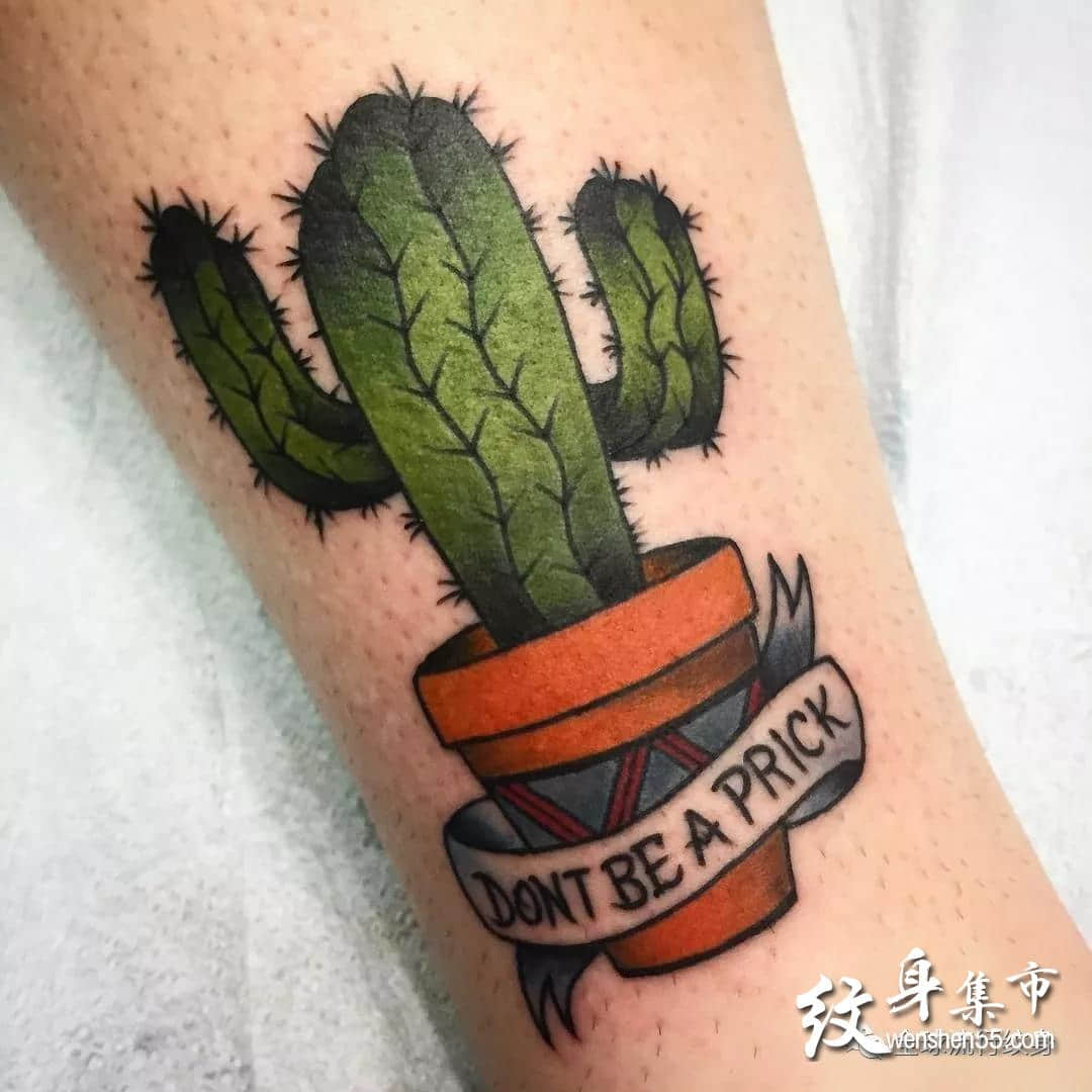 仙人掌纹身,仙人掌纹身手稿,仙人掌纹身手稿图案