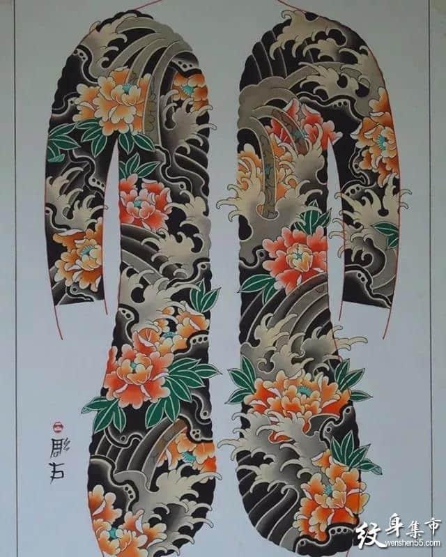 日式开衫纹身,日式开衫纹身手稿,日式开衫纹身手稿图案