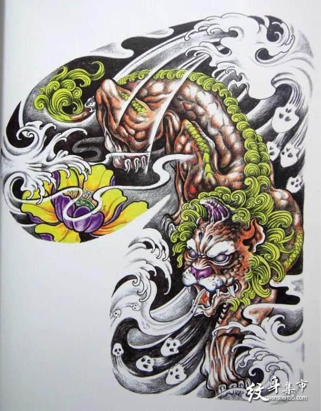 貔貅纹身,貔貅纹身手稿,貔貅纹身手稿图案