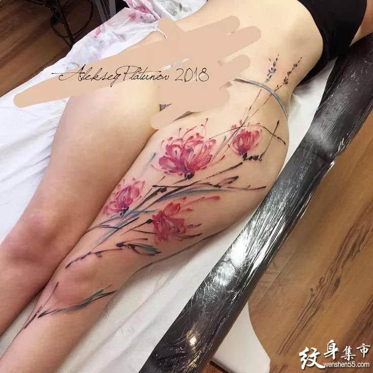 女神胯部纹身,女神胯部纹身手稿,女神胯部纹身手稿图案