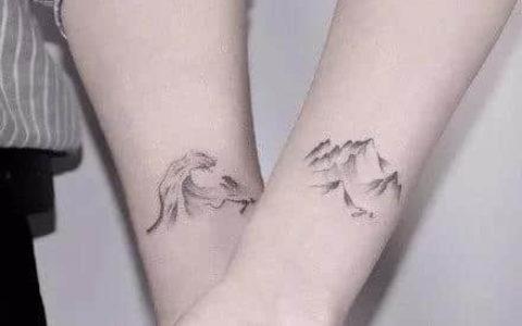 情侣山盟海誓纹身,情侣山盟海誓纹身手稿,情侣山盟海誓纹身手稿图案