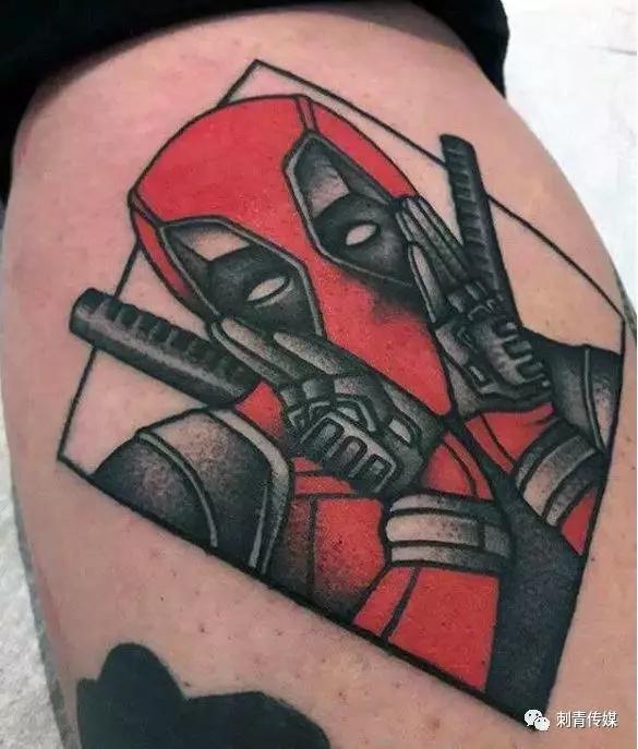 漫威死侍纹身,漫威死侍纹身手稿,漫威死侍纹身手稿图案