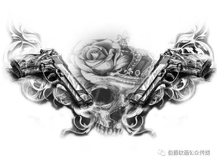花脖子纹身,花脖子纹身手稿,花脖子纹身手稿图案