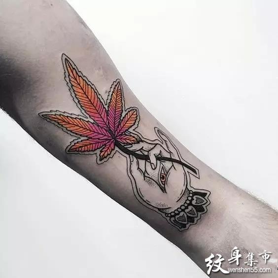 麻叶纹身,麻叶纹身手稿,麻叶纹身手稿图案