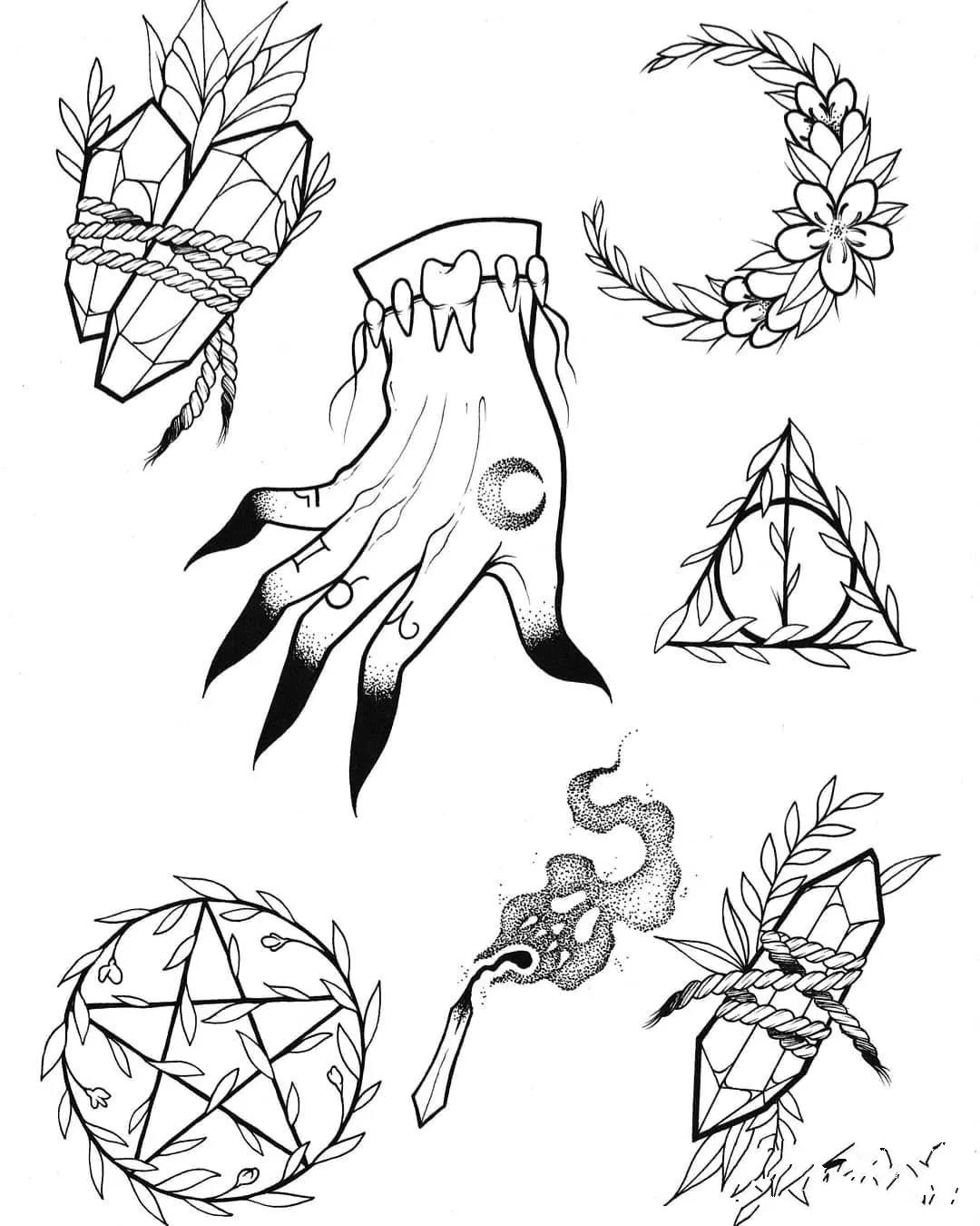 火柴纹身,火柴纹身手稿,火柴纹身手稿图案